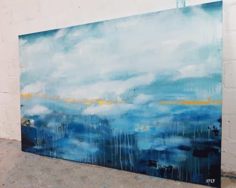 noch ein tag am meer 4 abstrakte kunst blau abstrakt idee farbe bild groß gemälde acryl