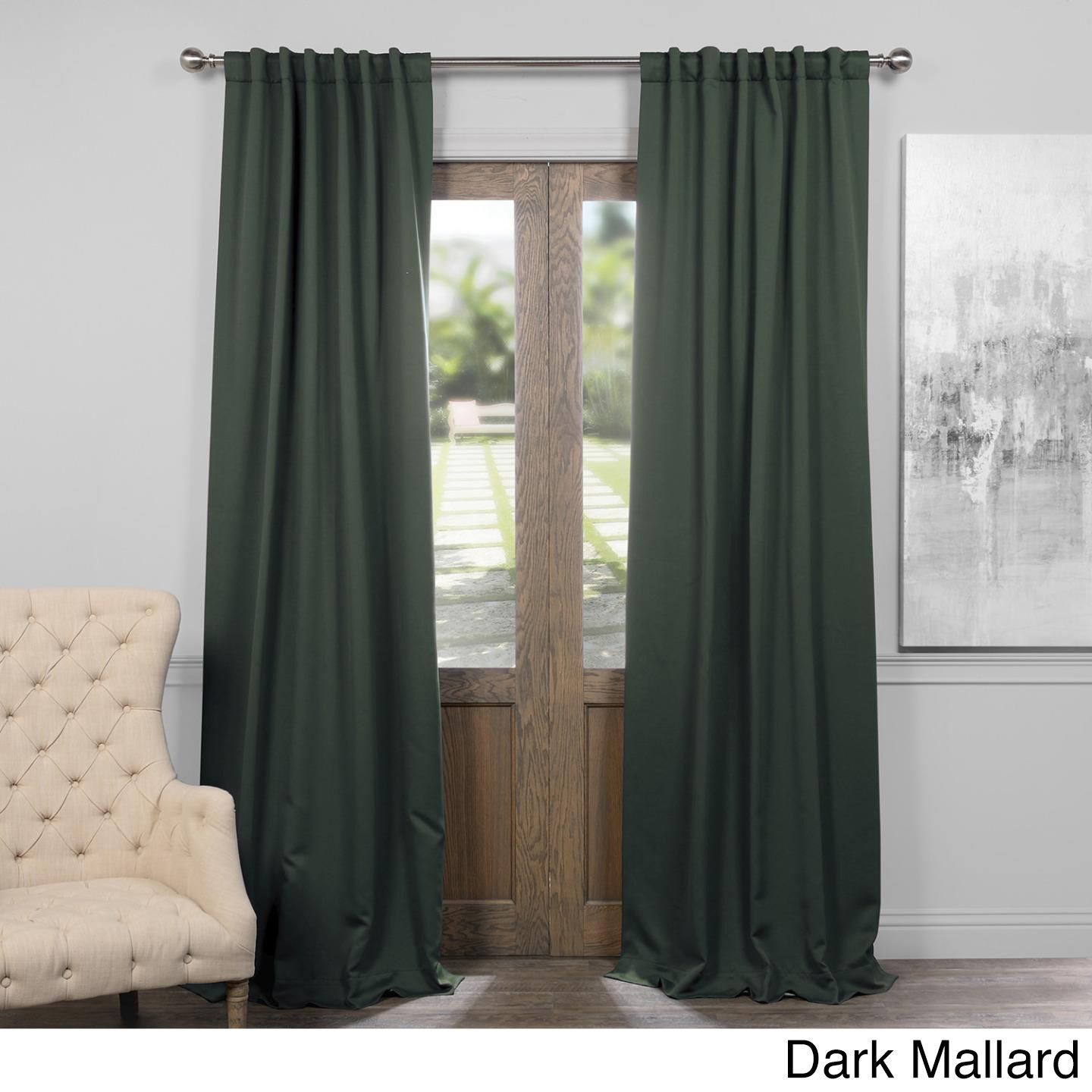 108 Inch Curtain Panels Exclusive Fabrics Thermal Insulated Solid Blackout 108 Inch