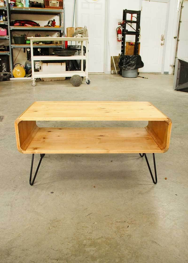 3a5eb2f957f0 DIY Table - Thrifted Wood Cubbies