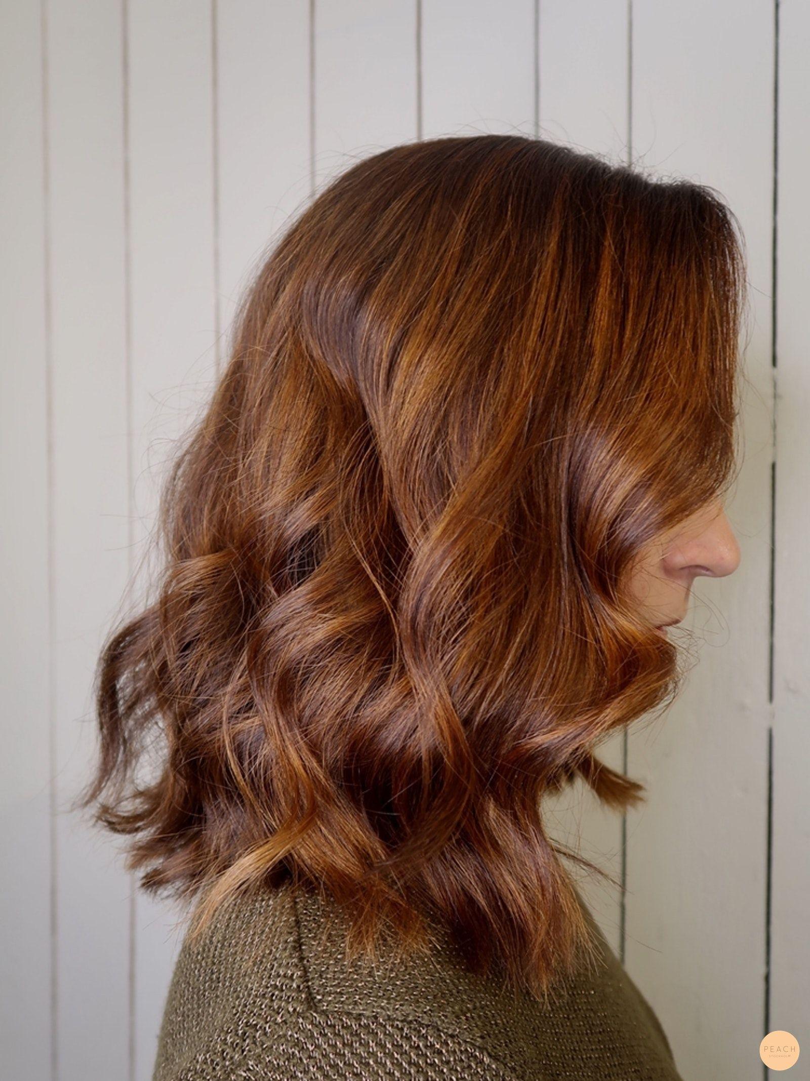 brun koppar hårfärg