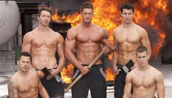 Sexy gay firefighters