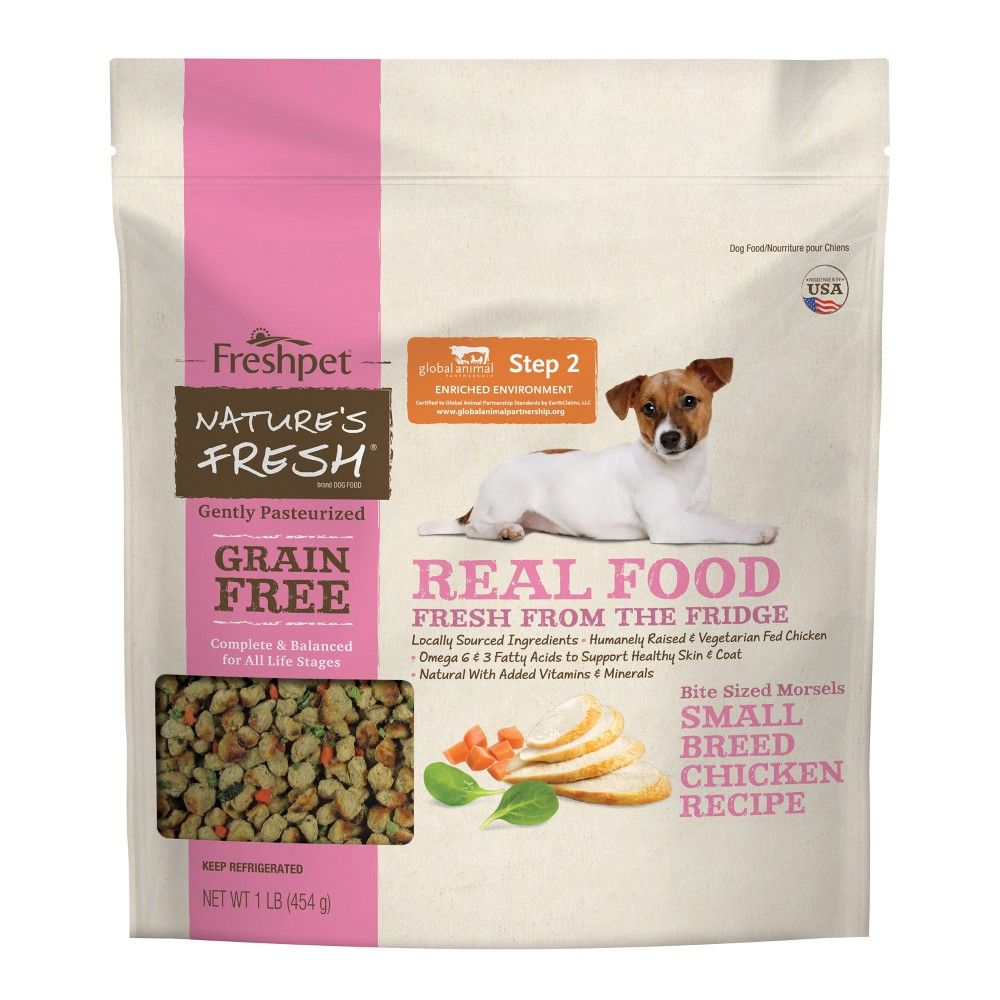 Freshpet Grain Free Small Breed Chicken Recipe Refrigerated