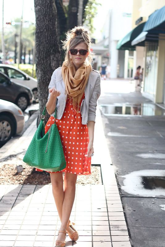 orange and a blazer