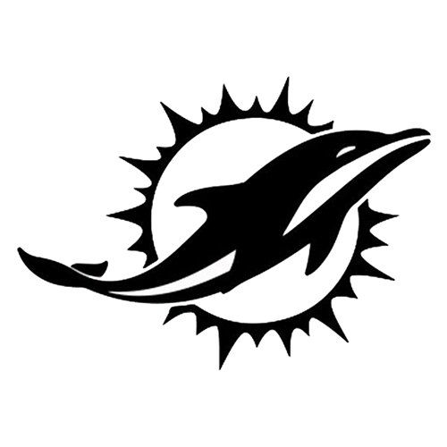 Vinyl Decal Sticker Miami Dolphins Decal For Windows Cars Laptops Macbook Yeti Coolers Mugs Etc Dolphins Logo Miami Dolphins Logo Miami Dolphins