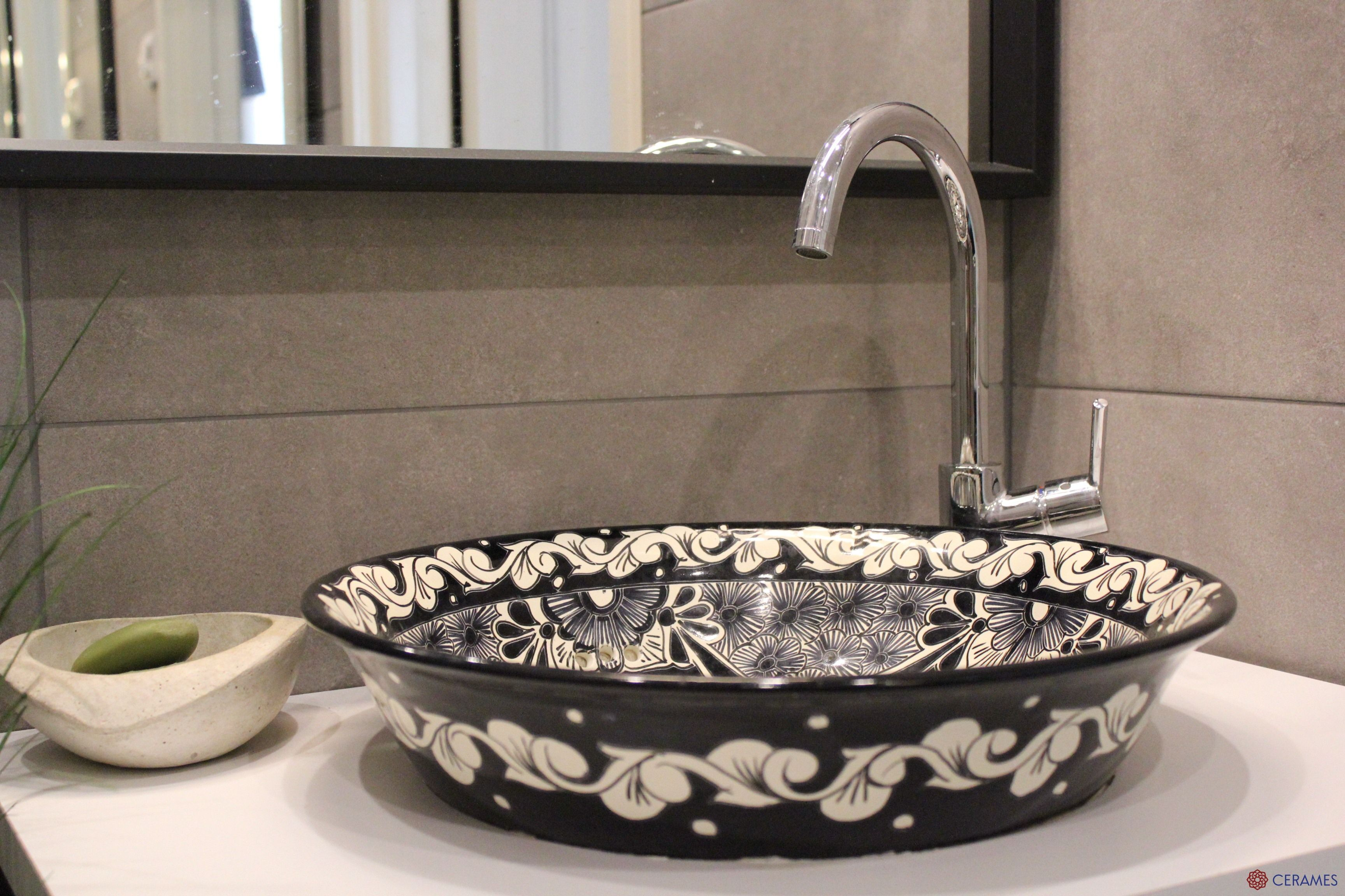 Schwarz Mexikanische Waschbecken Mexikanische Badezimmer Ideen Mexikanischewaschbecken Waschbecken Badezimmer Waschbecken Gaste Wc Keramik Waschbecken