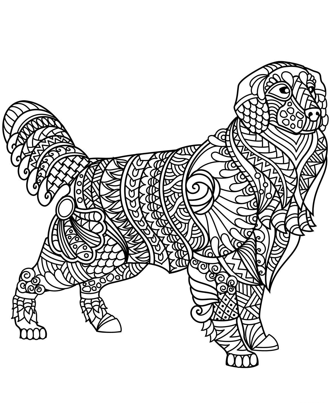 Relicaaa I Will Send You 160 Printable Coloring Pages Of Mandalas Animals Flowers For 15 On Fiverr Com In 2020 Dog Coloring Page Animal Coloring Pages Dog Coloring Book