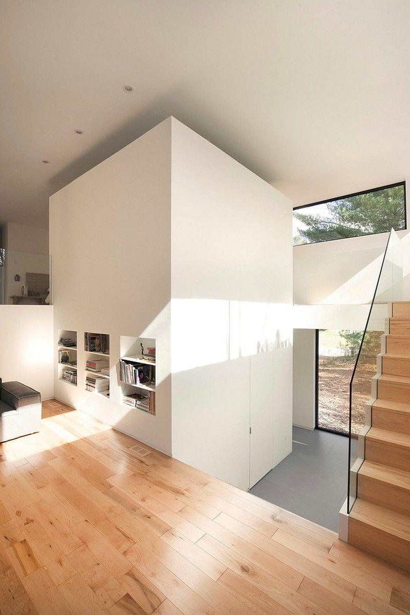 Maison terrebonne transformation of a 90s bungalow architecture