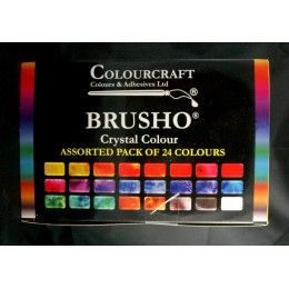 Colourcraft - brusho assortiment 24 couleurs