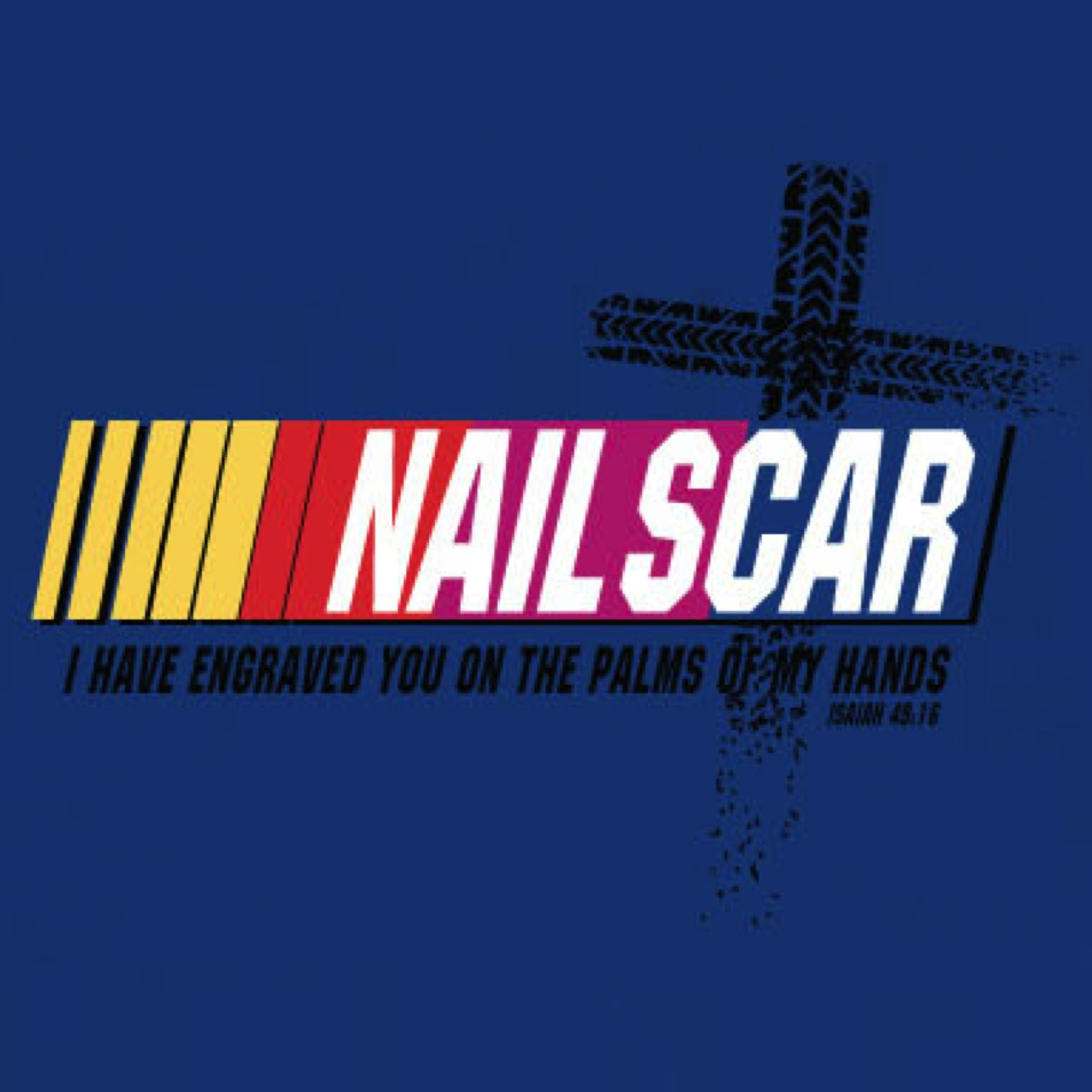Christian Sports Parody T Shirt Design For Nascar Fans