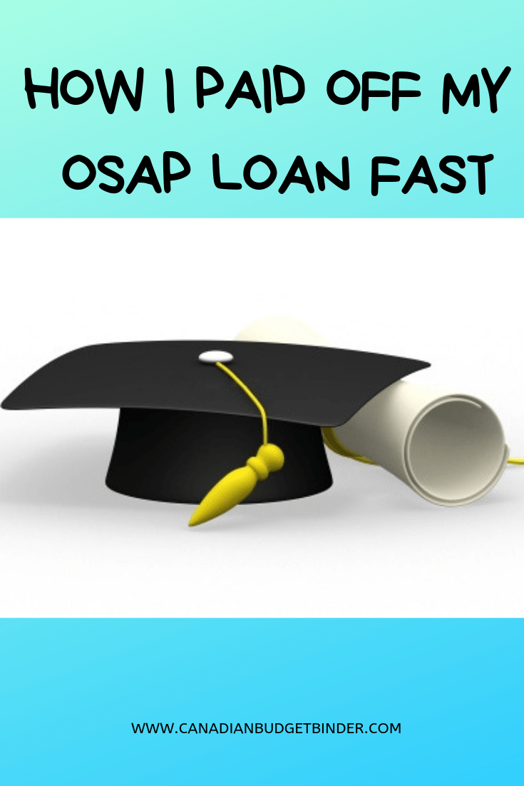 How I Paid Off My OSAP Loan Fast | Loans for bad credit, Paying off student  loans, Federal student loan forgiveness