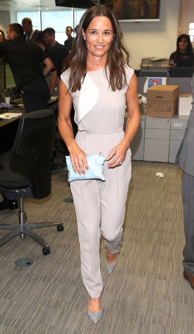 Pippa Middleton in an off-white jumpsuit