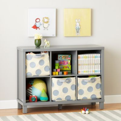 Cubic Bookcase Grey 6 Cube Wide Bookcase Kids Bookcase Cube
