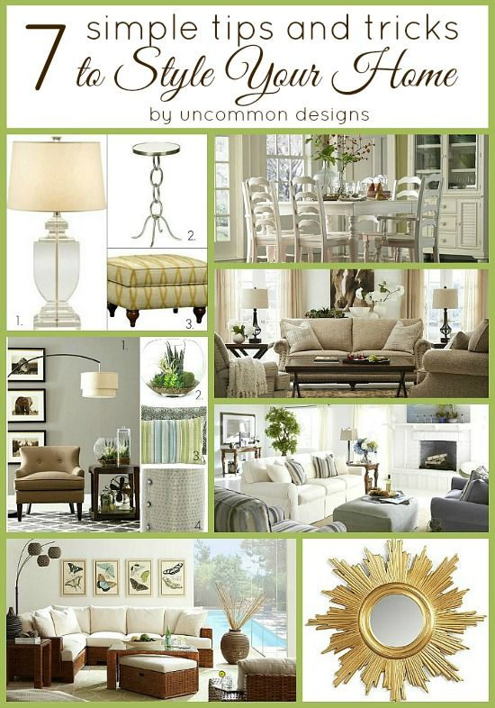 family room decorating ideas tips and tricks | 7 Simple Tips and Tricks to Style Your Home | Uncommon ...