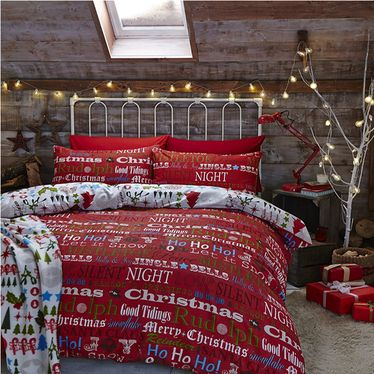Christmas Slogans Single Bedding #christmasbedding #santascoming - flanell fleece bettwasche kalten winterzeit
