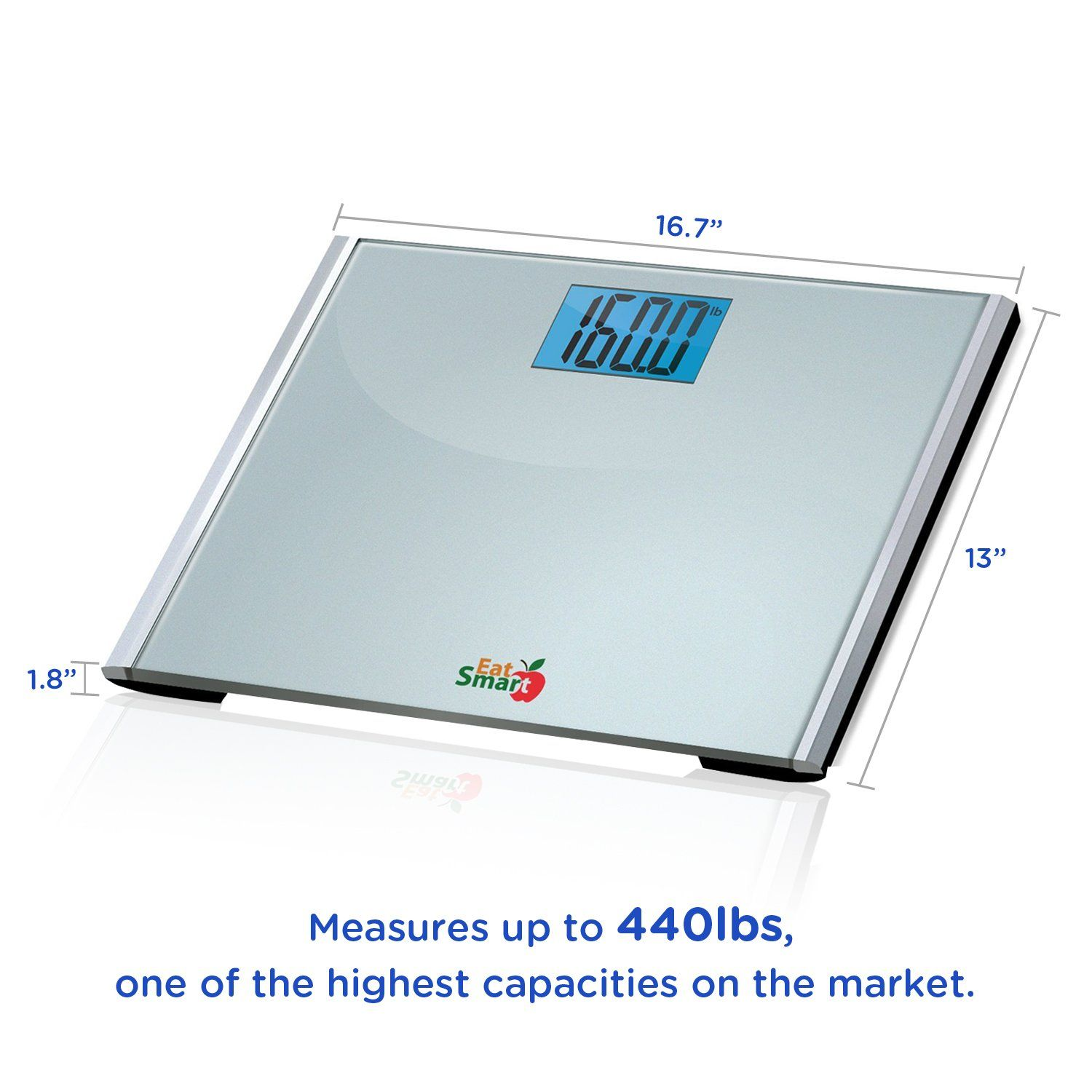 EatSmart Precision Plus Digital Bathroom Scale with