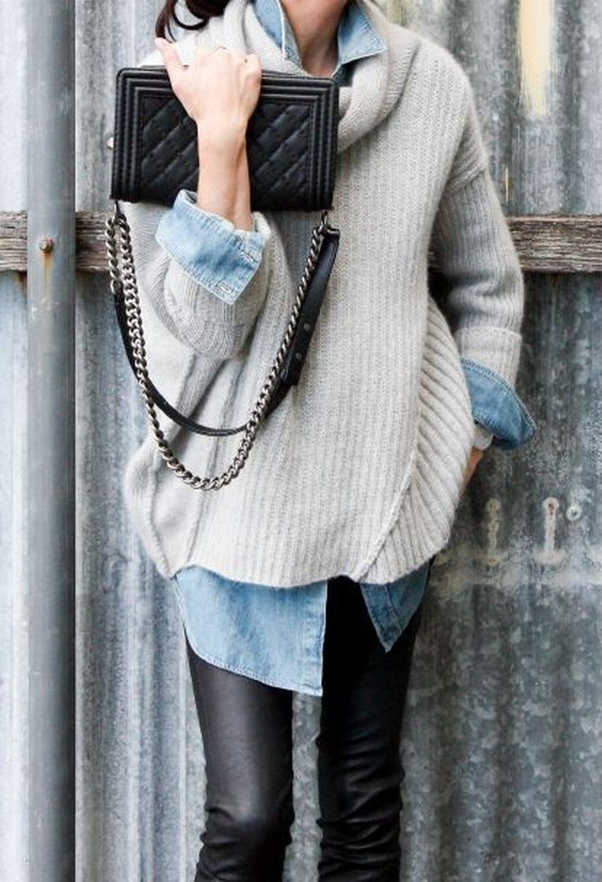 ab77c50471 10 Tips on How to Wear an Oversized Sweater