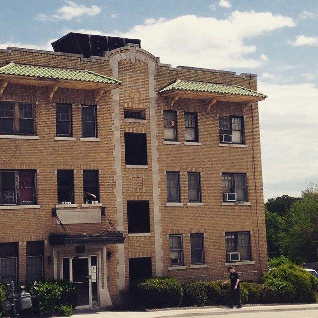 16th and Main. #tulsa #onthestreet #sobo #downtowntulsa #Oklahoma #urban #tileroof #streetscene