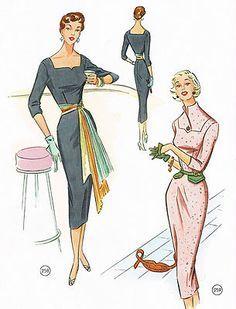 vintage fashion illustration - Pesquisa Google