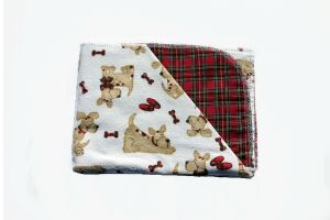 """Fetch Puppy Tyme Hemstitched Flannel Blanket Kit (Small 36"""" x 36"""")"""