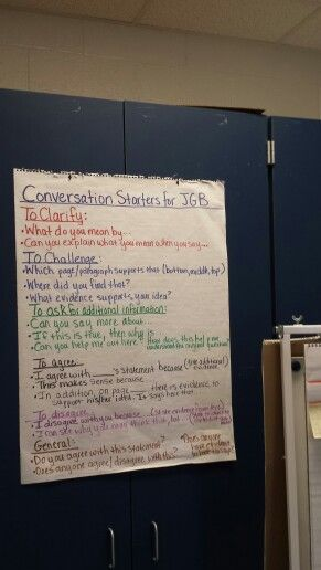 Conversation aids for Junior Great Books Shared Inquiry discussion.  At Dana Elementary School, Dana, NC.