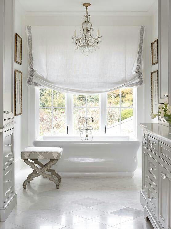 Elegant white bathroom bathroom Pinterest Baños lujosos - baos lujosos