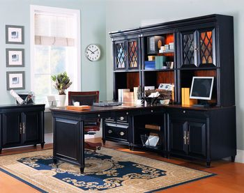 Peninsula Desk With Storage On Wall Home Office Furniture Sets