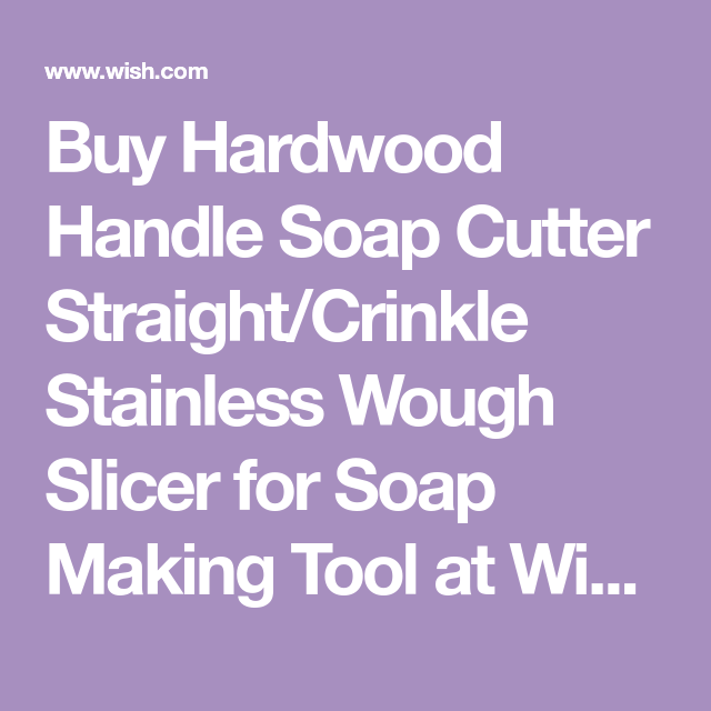 Hardwood Handle Soap Cutter Straight Stainless Wax Dough Soap Making