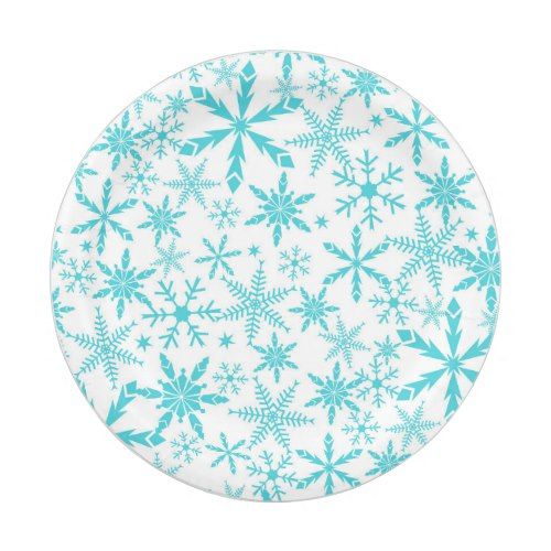 Frozen Snowflakes Pattern Holiday Paper Plates  sc 1 st  Pinterest & Frozen Snowflakes Pattern Holiday Paper Plates | Frozen snowflake ...