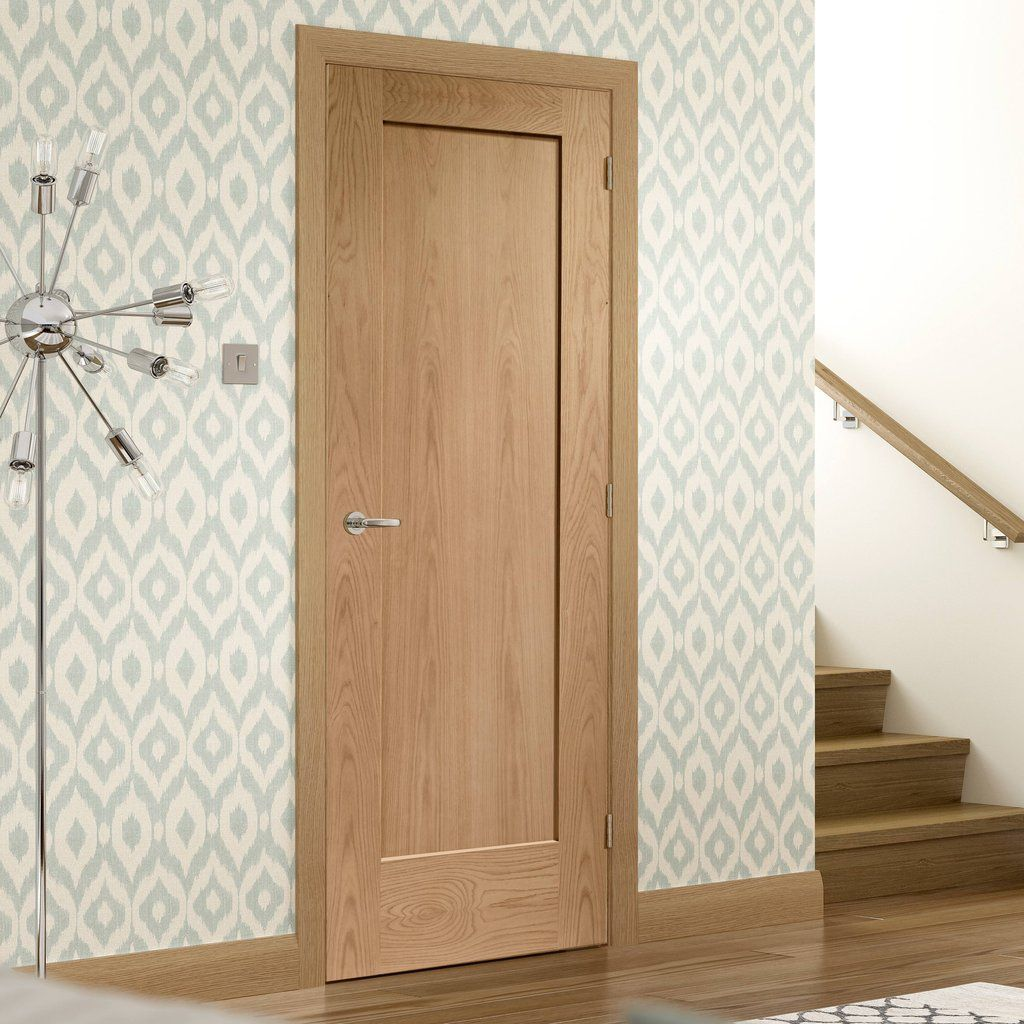 Door And Frame Kit Patt 10 Oak 1 Panel Door Prefinished In 2020 Bathroom Doors Bedroom Door Design Inside Doors