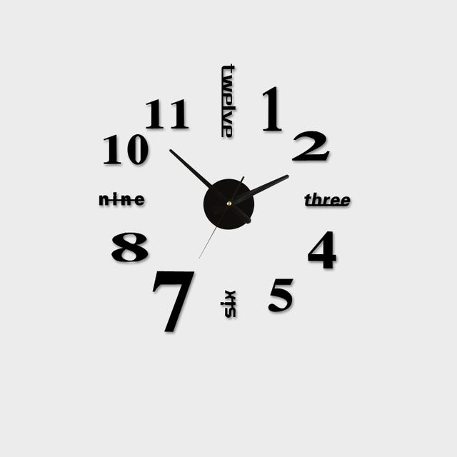 We Love It And We Know You Also Love It As Well Acrylic Best Home Decoration Diy Wall Clock Unique Large Number Stickers Self Adhesive Home Decor Modern Wall Cl