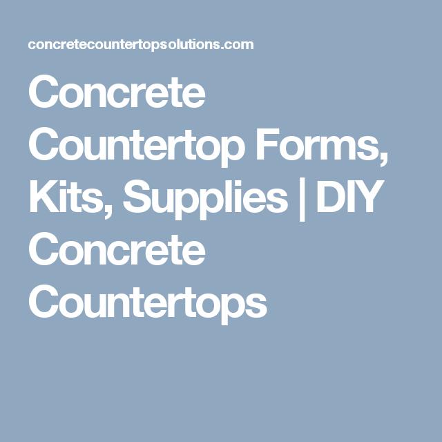 Concrete Countertop Forms Kits Supplies Diy Concrete