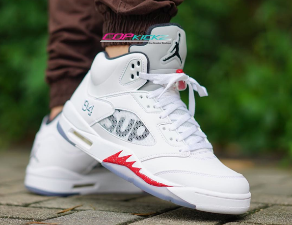 861c126e5e11 where to buy on feet photos of the supreme x air jordan 5 white 1 4f70e