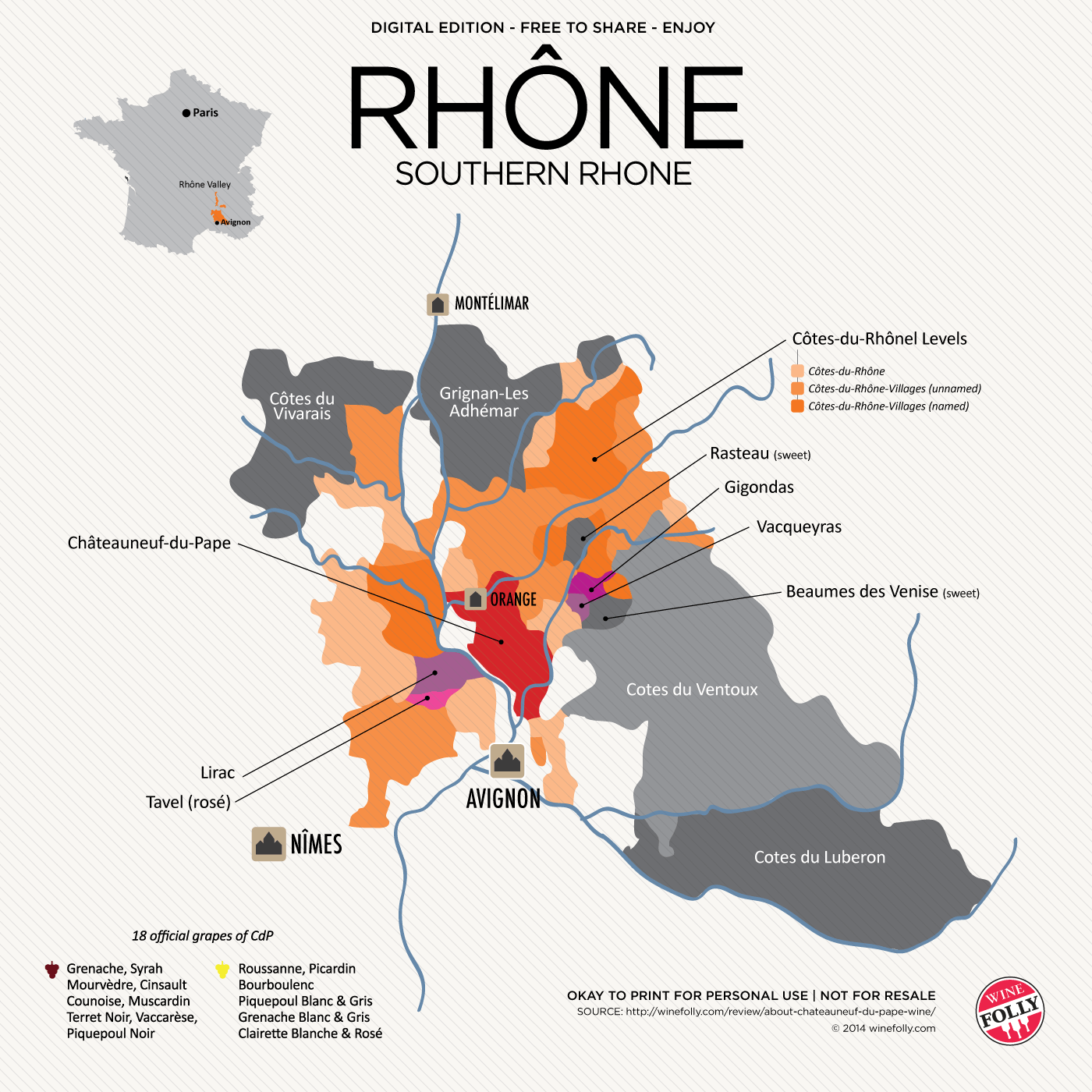 Seek Out Chateauneuf du Pape Wine | Wine folly, Wine facts, Wine ...