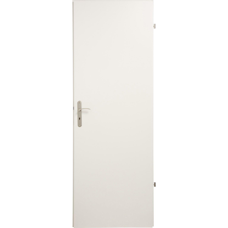 porte seule home pleine poussant droit 204 x 93 cm. Black Bedroom Furniture Sets. Home Design Ideas