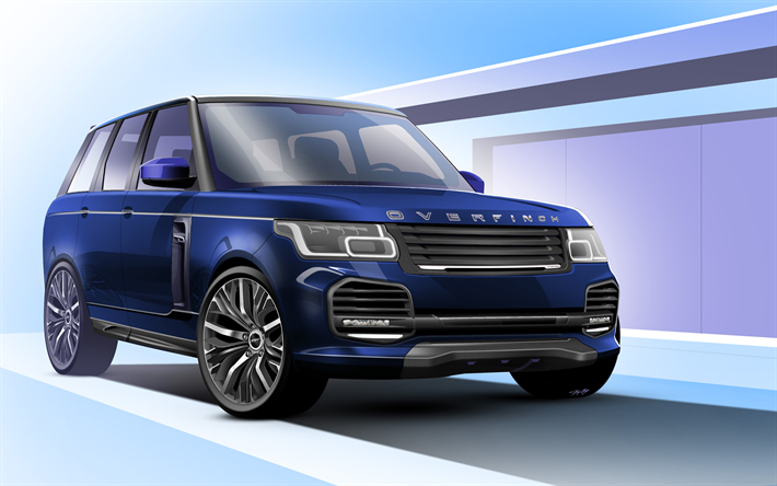 Download Wallpapers Overfinch Tuning 4k Range Rover Vogue 2018
