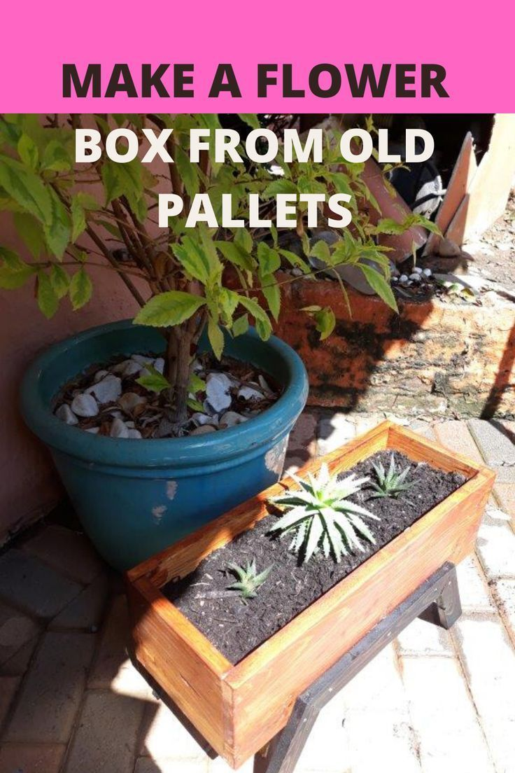 wood pallet flower box sawgrafter box flower pallet on easy diy woodworking projects to decor your home kinds of wooden planters id=92529