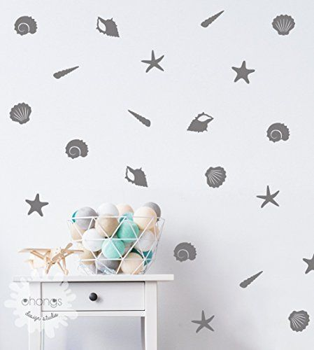 Sea Shells Wall Decal  Starfish Wall Decal  Sea Shell Sticker  Home Decoration -- Check out this great product.-It is an affiliate link to Amazon. #KidsRoomDcor