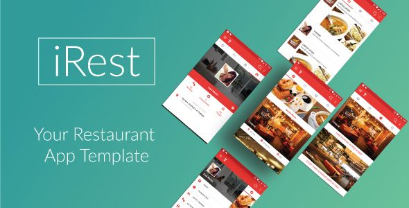 iRest - Nearby Restaurants Template  Unique \ Bright android - Application Template