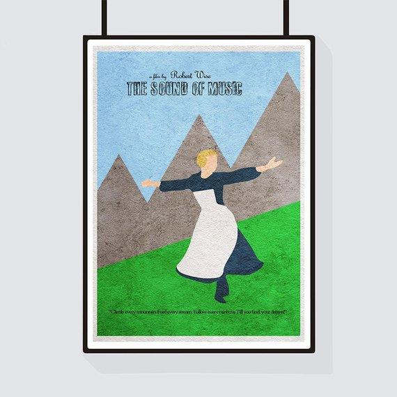 The Sound Of Music Minimalist Alternative Movie Print