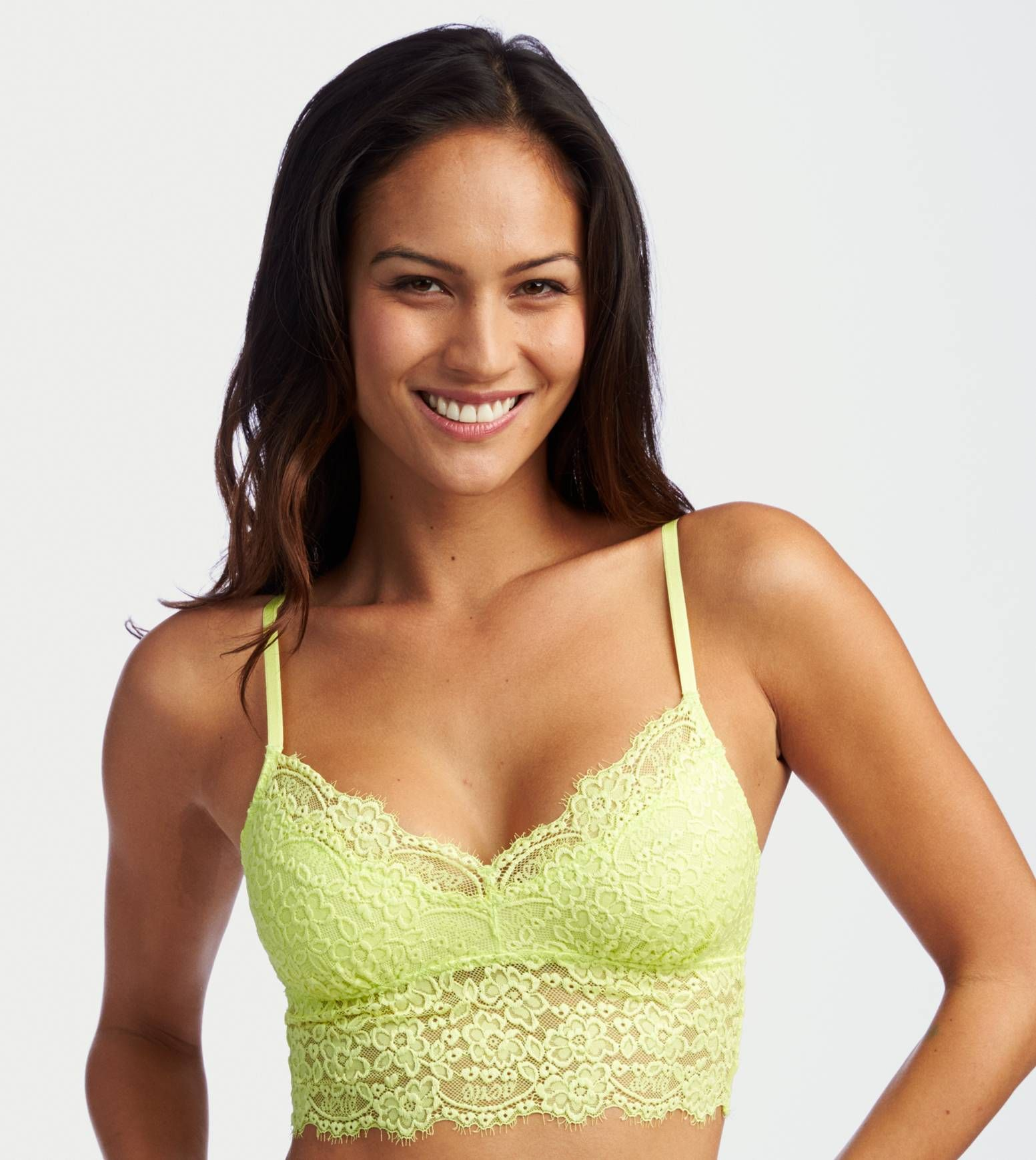 0011fed7b8a53 Prime Lime Aerie Romantic Lace Bralette - Softest lace in a pretty shape!   Aerie
