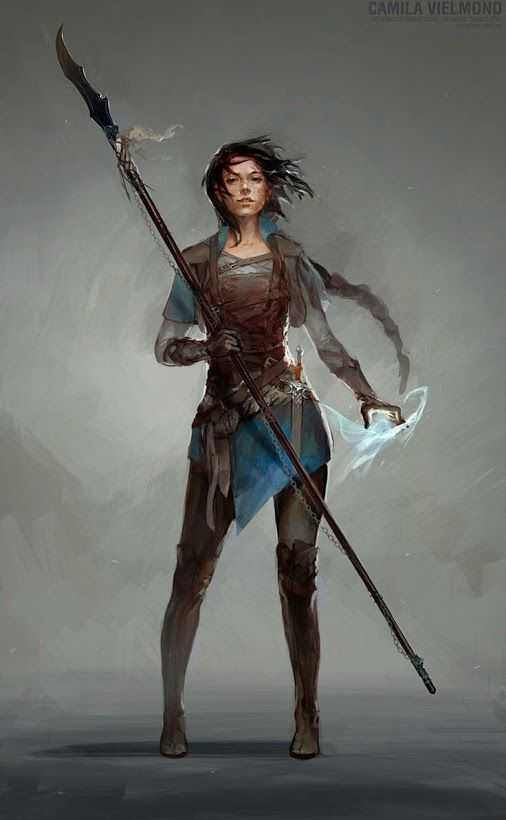 99 D&D Female Character Art Pieces (no boobplate or stab-friendly midriffs) #characterart
