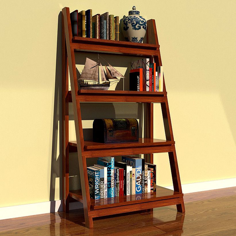 Wooden Ladder Bookshelf Furniture New Interior Home