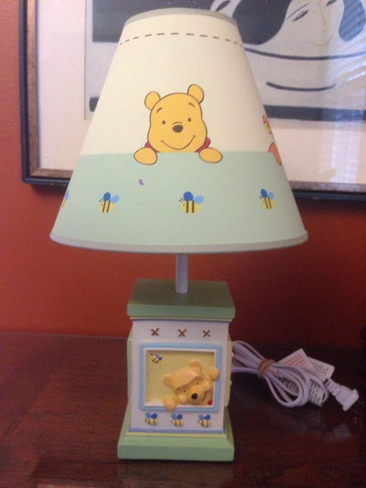 Winnie the pooh classic disney soft fuzzy nursery lamp from disney nursery lamps shades ebay aloadofball Gallery