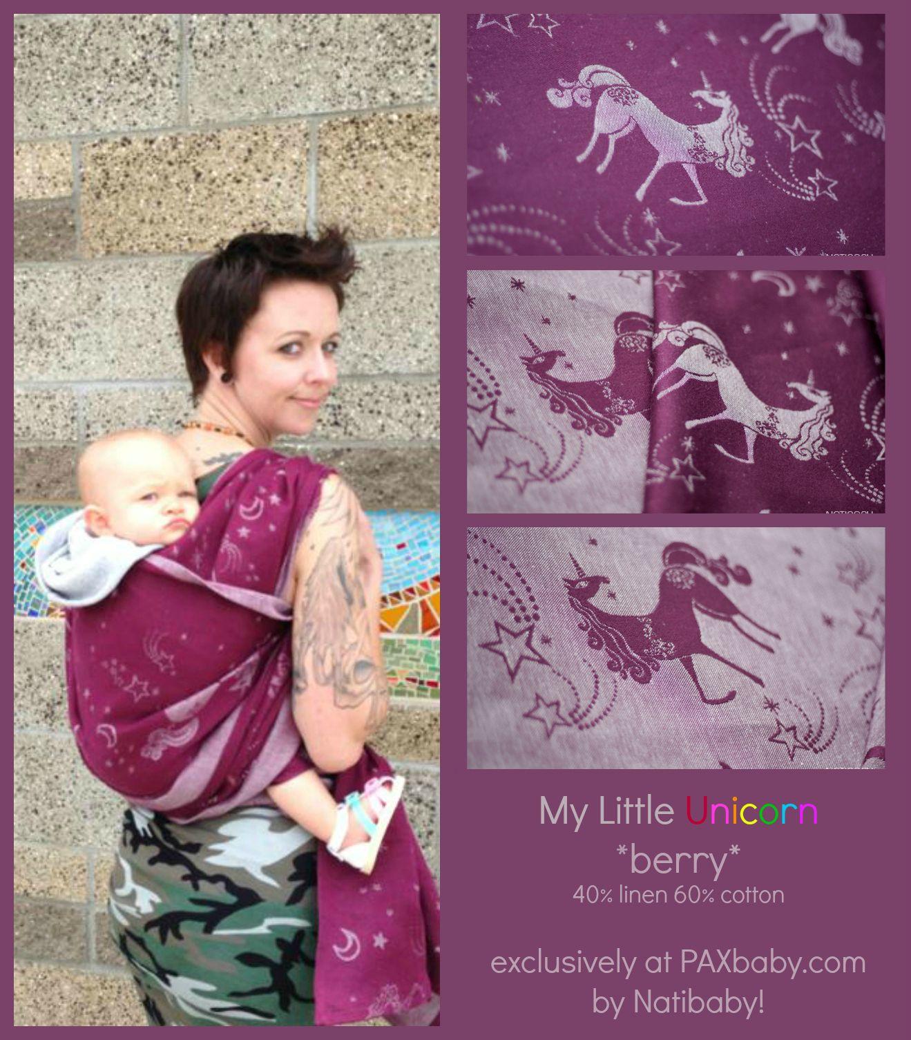 My Little Unicorn Paxbaby Berry Natibaby Babywearing Wishes