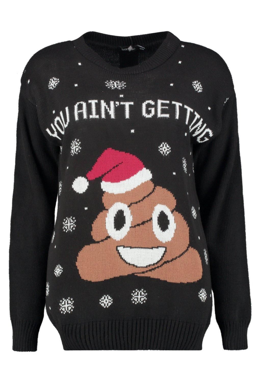 Daisy Poo Emoji Christmas Jumper Boohoo Outfits Xmas Sweater Emoji Christmas
