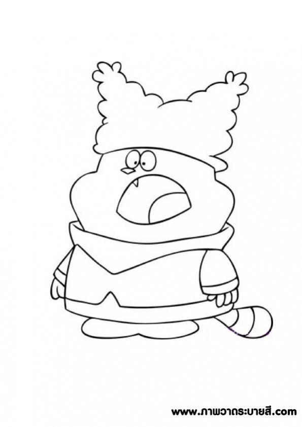 ภาพวาดระบายส Chowder 14 การพ มพ