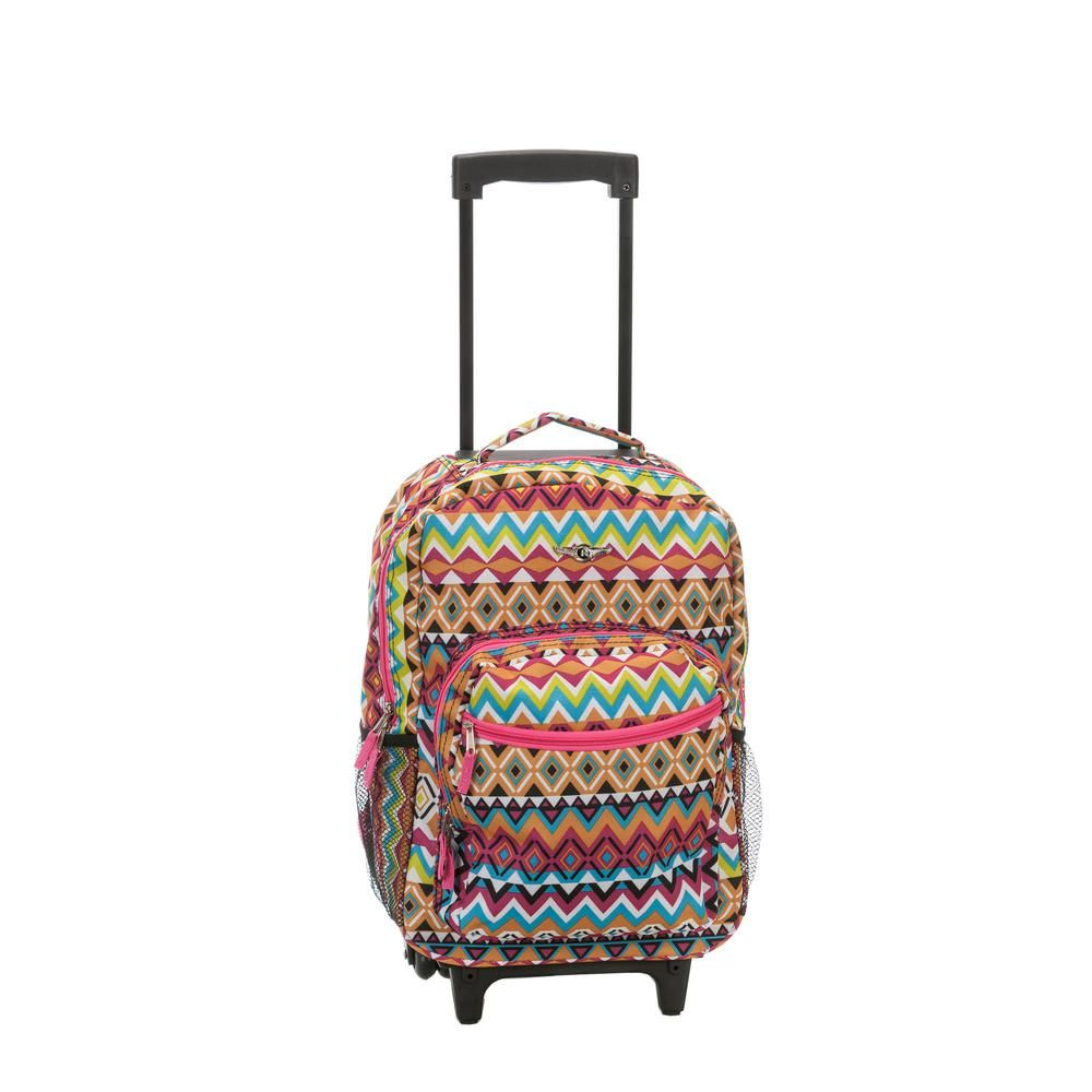 Tribal Rockland Luggage 17 Inch Rolling Backpack