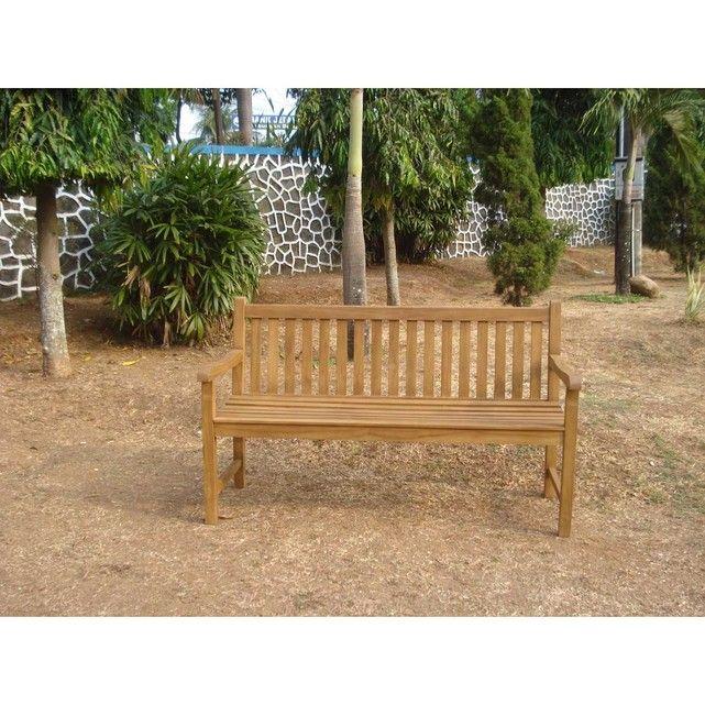 Banc De Jardin En Teck Kalawea 150 Cm Taille Taille