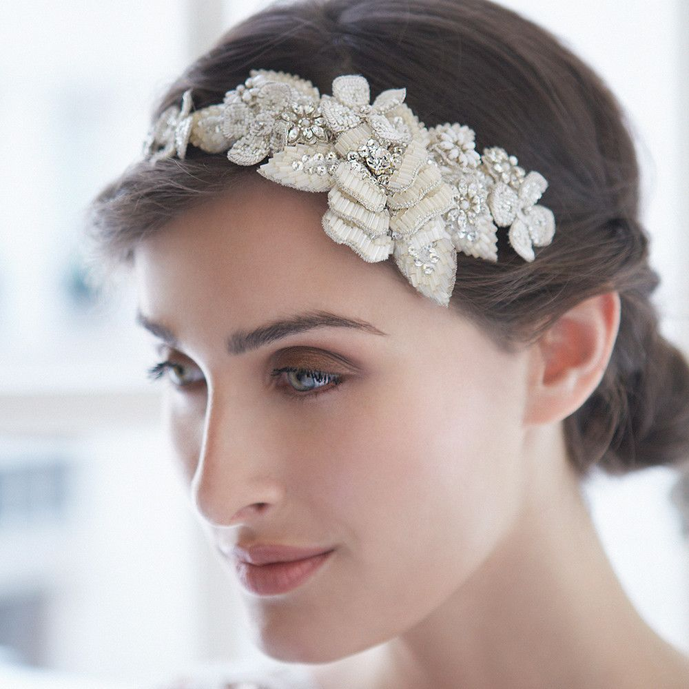petal cluster band bridal hair accessory by emmy london
