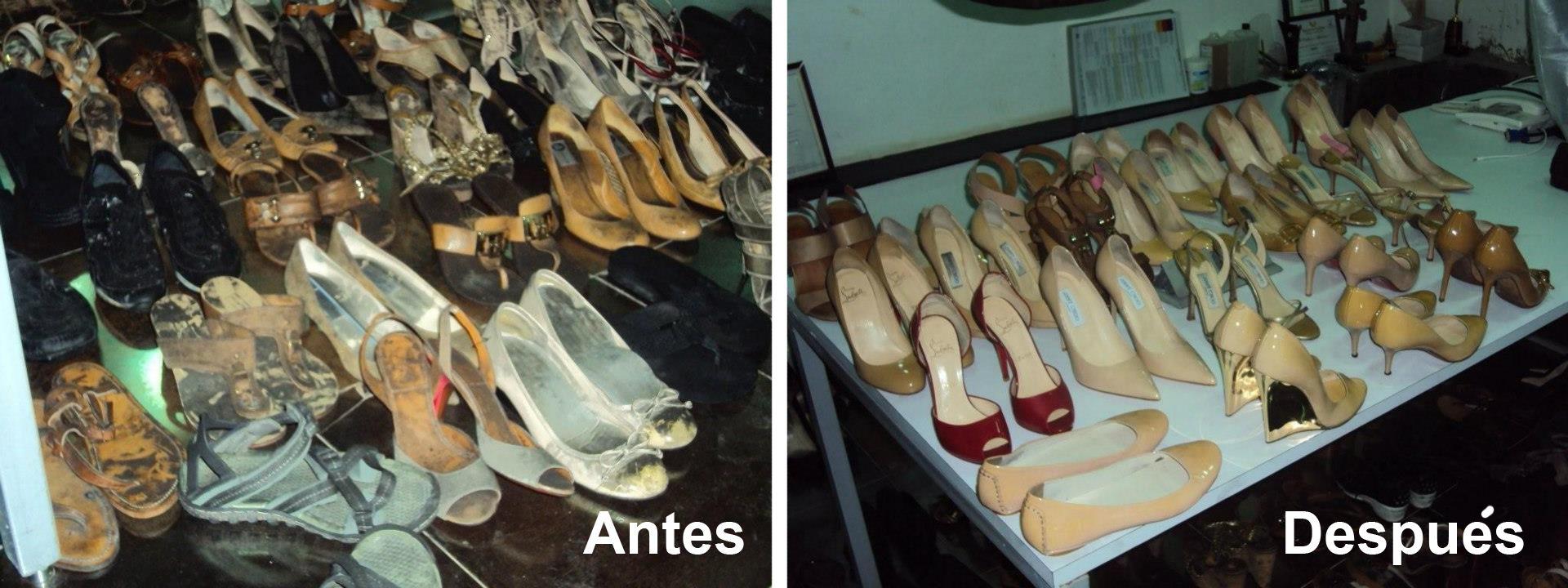 Press Shoes. Un servicio de tintorerías Pressto especializado en el cuidado del calzado. En esta ocasión se trata de un trabajo trabajo realizado en Pressto India (allí se denomina Pressto Zapato).   Han tratado 168 pares de zapatos después de un incendio en casa de una clienta. Los zapatos han sido restaurados, limpiados a fondo y teñidos y el resultado es ¡increíble!